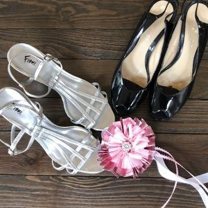 Shoes - 2 pair of shoes, Nine West slides & Fioni sandals